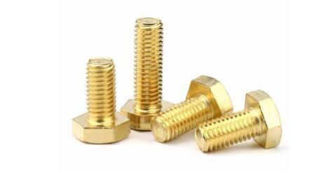 Brass hex bolts & hex cap screws